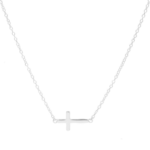 Small Side Cross Necklace