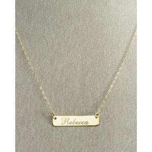 Rectangle ID Necklace