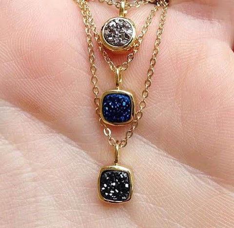 Ice Tiny Druzy Necklace