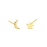 Star and Moon Studs (More Metals)