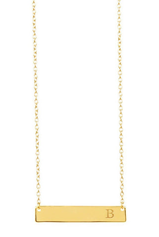 14kt gold vermeil bar necklace