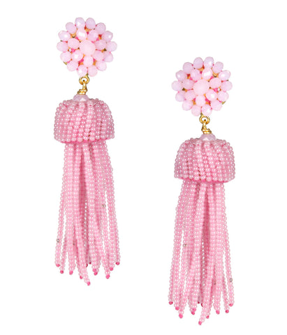 Lisi Tassel Earrings - Cotton Candy