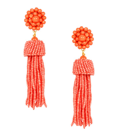Lisi Tassel Earrings - Conch
