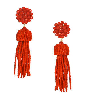 Lisi Tassel Earrings in Red