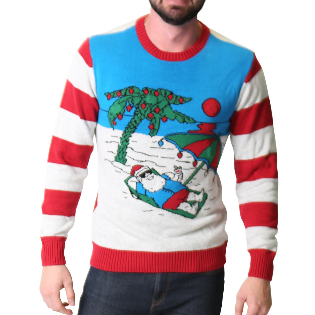 Beach Santa Ugly Christmas Sweater Unisex Ugly