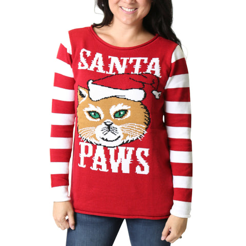 Women's 'Santa Paws' Ugly Christmas Sweater