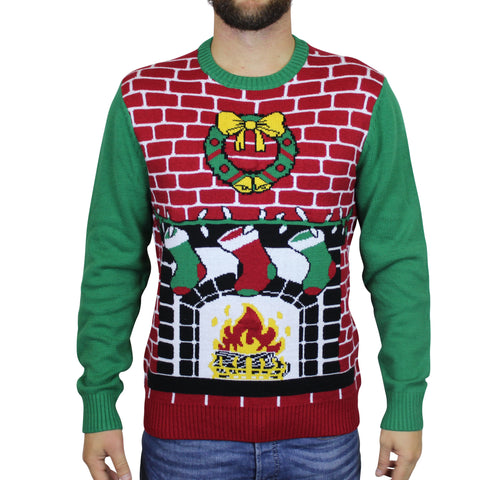 Fireplace Ugly Christmas Sweater - Unisex