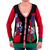 Women's Presents Ugly Christmas Sweater Cardigan - Black