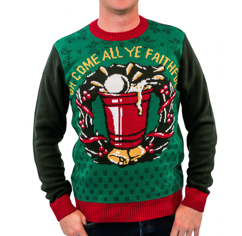 'Beer Pong' Ugly Christmas Sweater - Unisex