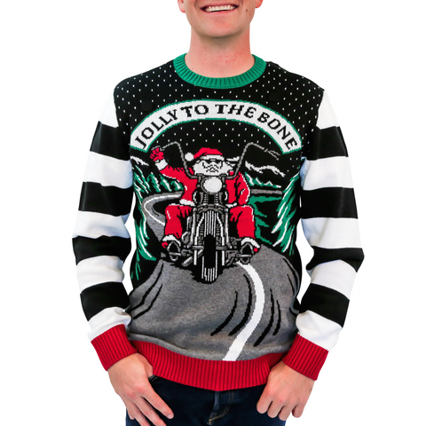 'Jolly to the Bone' Ugly Christmas Sweater - Unisex
