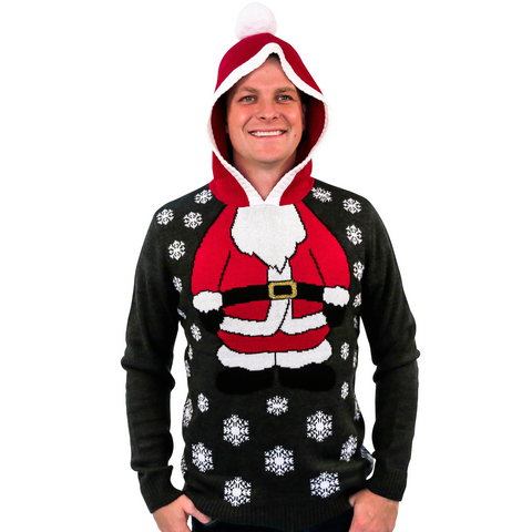 Santa Suit Hoodie Ugly Christmas Sweater - Unisex