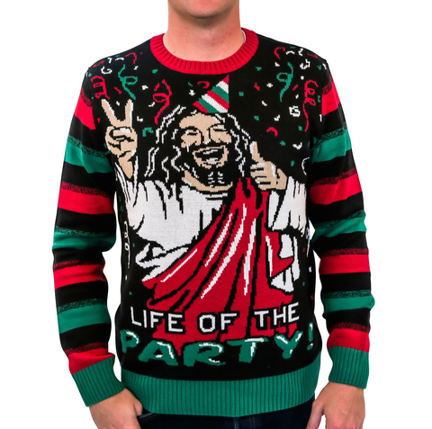 'Life of the Party' Jesus Ugly Christmas Sweater - Unisex
