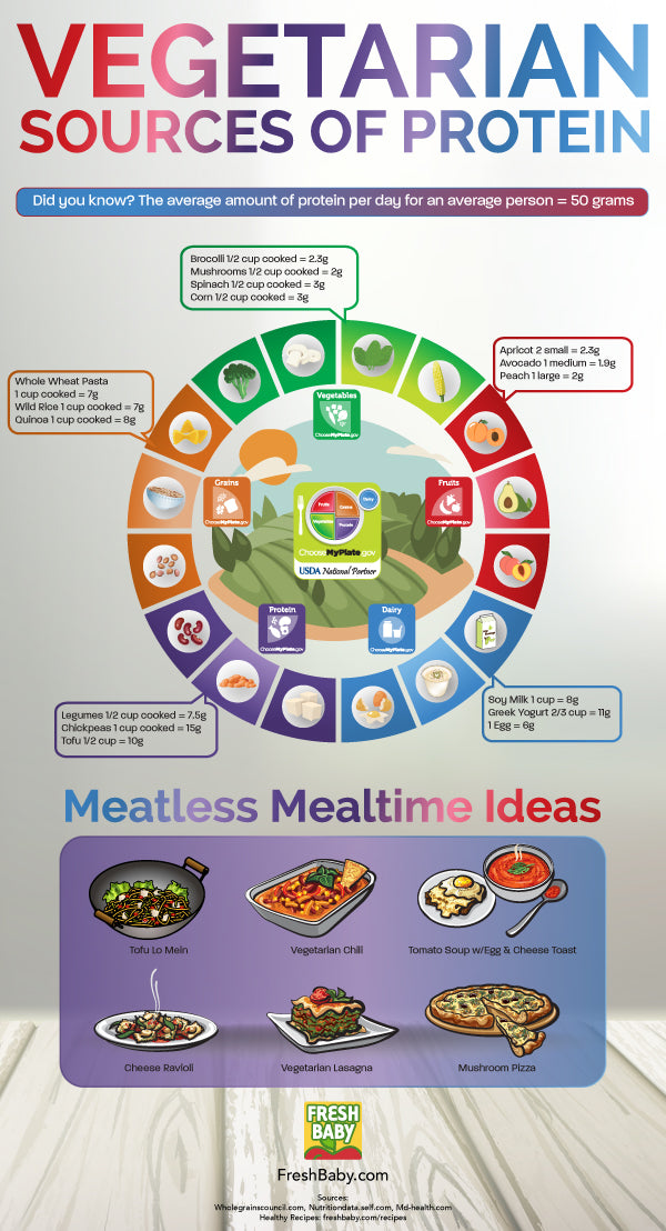 Meatless Dinner Ideas Infographic