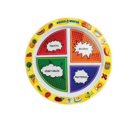 "8"" 4-Section MyPlate Comic Book Design"