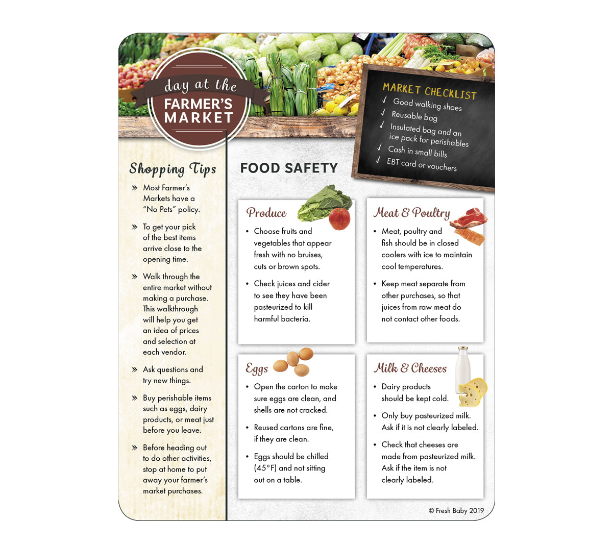 Adult Farmer's Market Tip Card