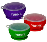 YUMMY Suction Bowl w/ Lid - Assorted Colors