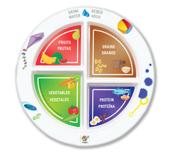 "NWA 7"" Kid's 4-Section MyPlate - Bilingual"
