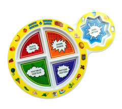 "7"" Kid's 5-Section MyPlate - Bilingual"