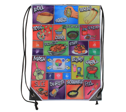 Comic MyPlate Backpack Gym Bag