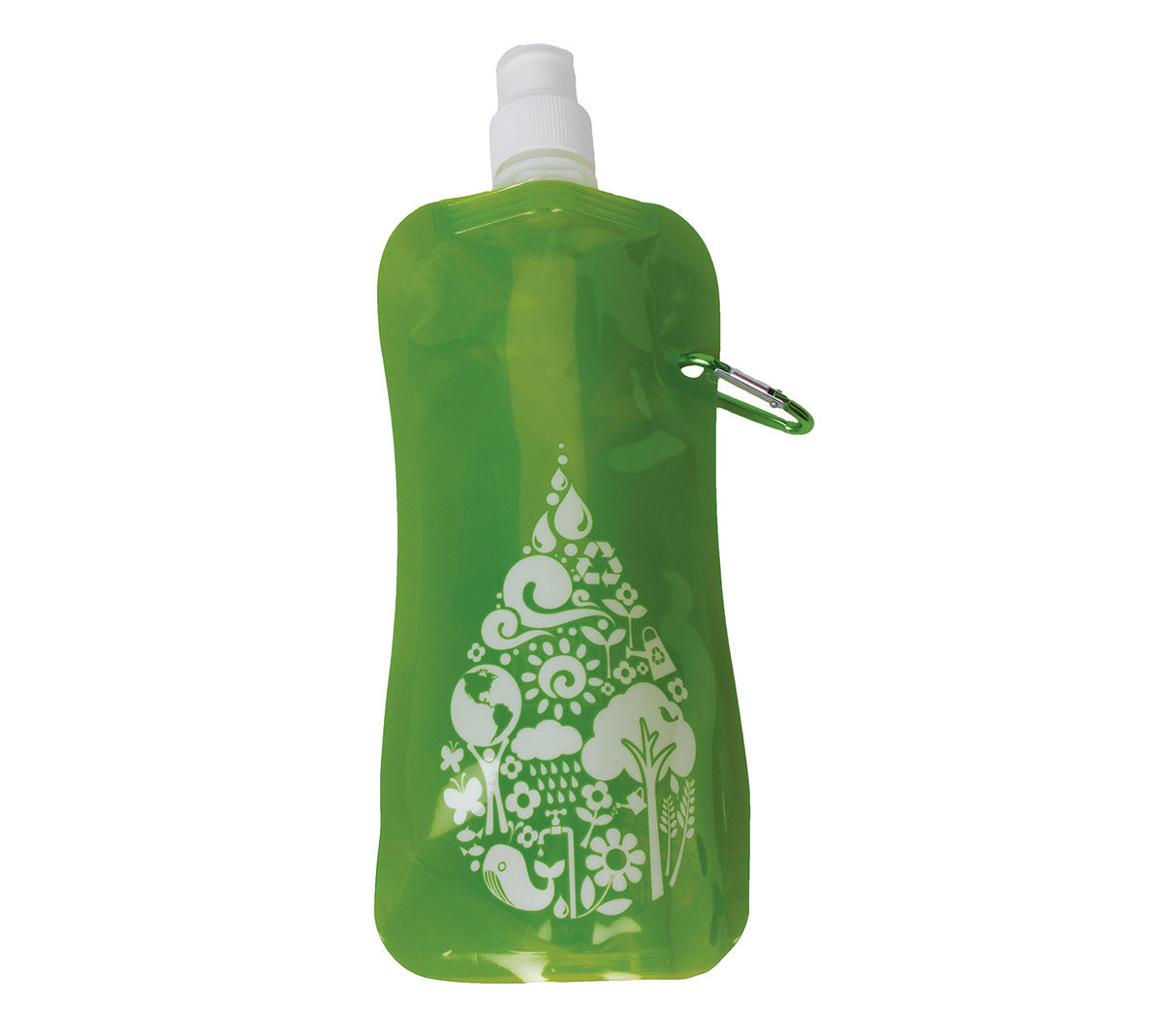 Fresh Baby's Collapsible Eco-friendly Water Bottle makes carrying a reusable water bottle easy and convenient. It stands tall when full and folds neatly when empty - small enough to fit in your purse, backpack or pocket.