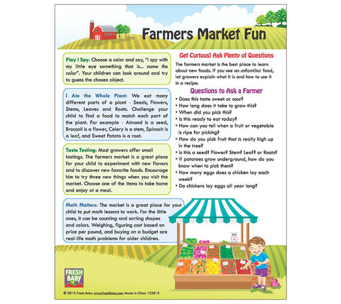 Farmer's Market Tip Card