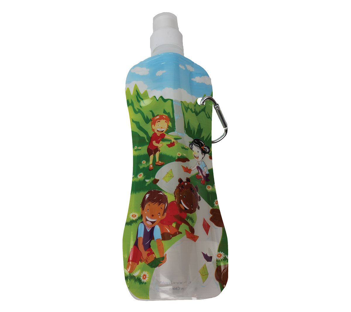 Fresh Baby's Kid's Water Bottle is specially designed for little hands! Our kid-sized collapsible water bottle stands tall when full and folds neatly when empty - small enough to fit in a lunchbox or backpack. Drinking plenty of water is essential to active children.  Fresh Baby's waterfall design let's children see the water in the bottle and makes drinking water fun!