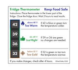 Large Type Fridge Thermometer