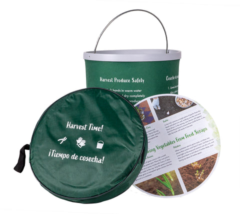 Collapsible Garden Bucket with Tip Card
