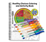 Healthy Choices Coloring & Activity Book w/ Gel Pens