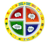 "7"" Kid's 4-Section MyPlate - Bilingual"