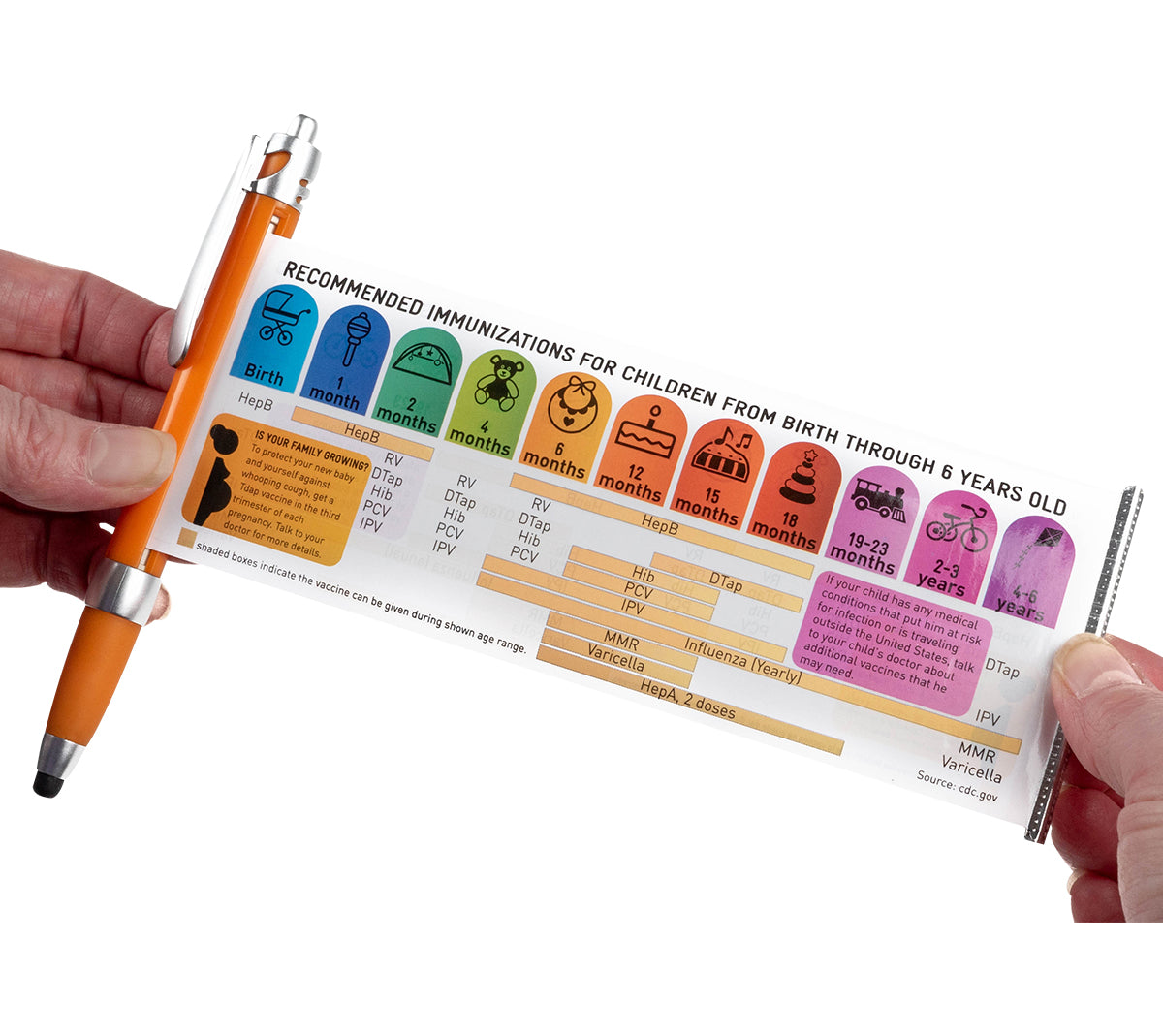 Banner Pen- Immunizations (bilingual) - no imprint