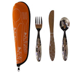 3-Piece Kid's MyPlate Cutlery Set w/ Case