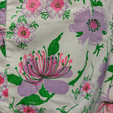 VINTAGE '60s LILLY PULITZER THE LILLY WATER LILY SKIRT WITH METAL ZIPPER