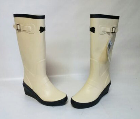 NEW - VICTORIA TRADING COMPANY HOPELESS ROMANTIC RAIN & GARDEN BOOTS IN VANILLA ICE CREAM