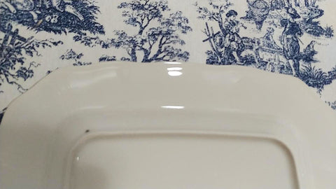 BLUE AND WHITE CHINA PORCELAINE ADELAIDE BIRD & FLORAL DINNER PLATES (2) - SET #2
