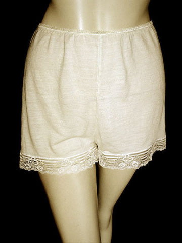 VINTAGE DAMART THERMAL SILK FANCY LACE PANTIES FROM FRANCE - SIZE LARGE