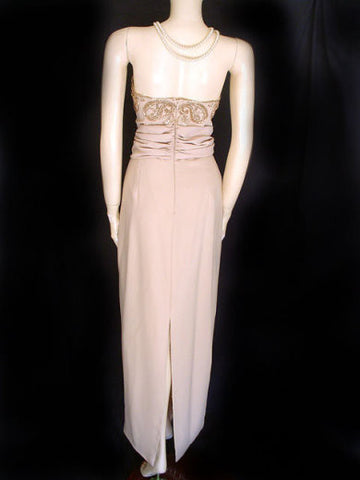 MACIS SWEETHEART STRAPLESS BEADED EVENING GOWN WITH BOLERO JACKET - LARGE - NEW WITH TAG $375