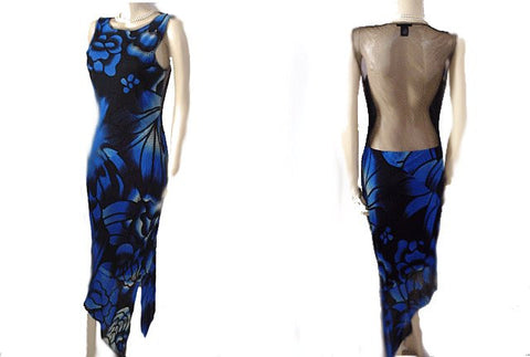 BEAUTIFUL VIVIENNE TAM MESH EVENING DRESS WITH A FABULOUS SHEER BACK