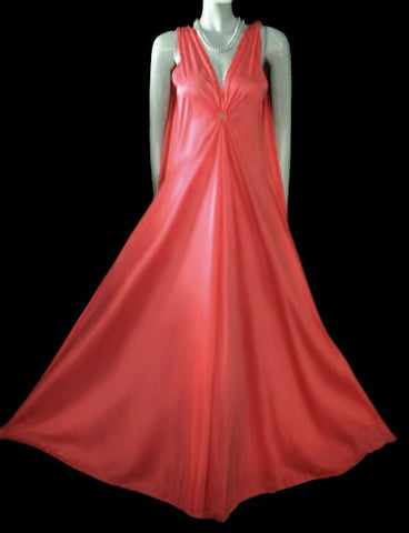VINTAGE GILEAD OLD HOLLYWOOD GRAND SWEEP NIGHTGOWN IN OLD FLAME