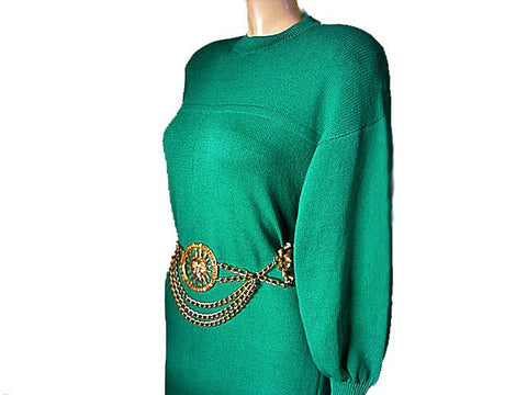 BEAUTIFUL ST. JOHN BY MARIE GRAY SANTANA KNIT DRESS IN JADEITE