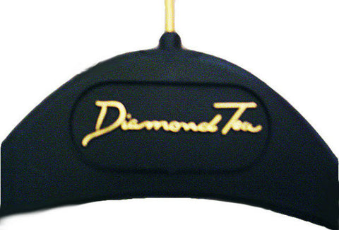 NEW - DIAMOND TEA BLACK WITH GOLD LETTERING HANGER FOR YOUR EXQUISITE DIAMOND TEA ROBES