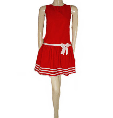 NEW - RARE EDITIONS RED & WHITE DOT DRESS WITH CUTE BACK - NEW WITH TAG