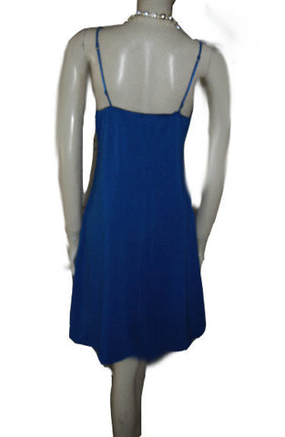CUTE MOD SPACE AGE-LOOK SPANDEX KNIT DRESS WITH GREAT ROUND METAL RING & FAUX LEATHER KEYHOLE WITH CUTOUT