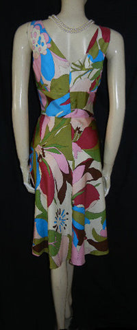 LUSCIOUS PHILIP DICAPRIO FLORAL SILK DRESS - NEW WITH TAG