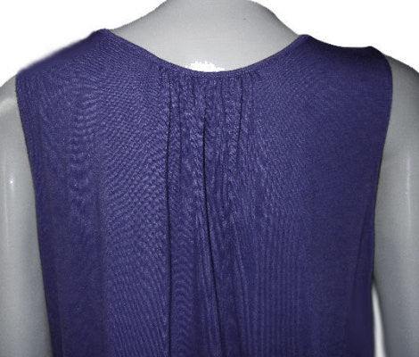 BEAUTIFUL VERA WANG JERSEY-LIKE A-LINE SUMMER DRESS WITH SATIN TRIM IN IRIS - SIZE XL