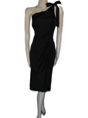 SOPHISTICATED CHELSEA NITES GRECIAN GODDESS ONE -SHOULDER TAFFETA EVENING GOWN - NEW WITH TAG - LARGE SIZE