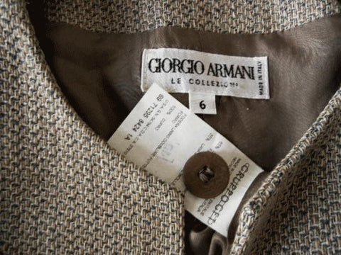VINTAGE '90s GIORGIO ARMANI CLASSIC JACKET MADE IN ITALY - LIKE NEW