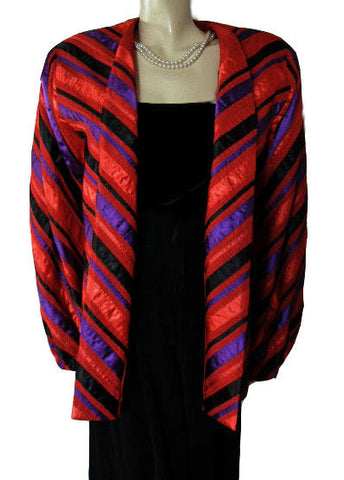 BEAUTIFUL VINTAGE '60s / 70's DESIGNER TACHI CASTILLO FROM MEXICO PIN TUCKS & SATIN RIBBON JACKET