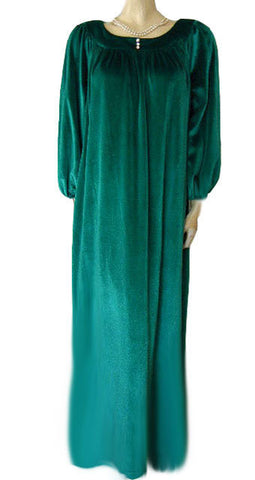 VINTAGE DAVID BROWN LUXURIOUS VELVETY VELOUR DRESSING GOWN FROM I. MAGNIN IN DRAGONFLY
