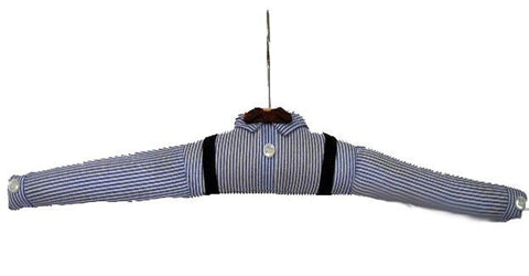 VINTAGE PADDED MAN'S FAVORITE SHIRT OR BOY'S HANGER - ADORABLE!